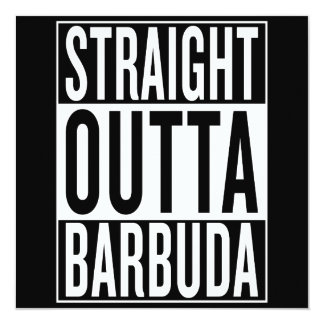 straight outta Barbuda Card