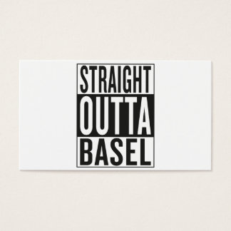 straight outta Basel Business Card