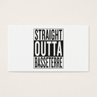 straight outta Basseterre Business Card