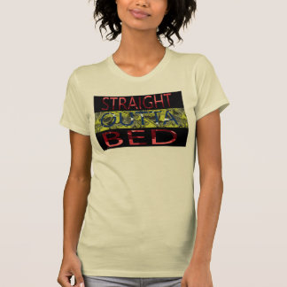 straight outta bed funny t-shirt design