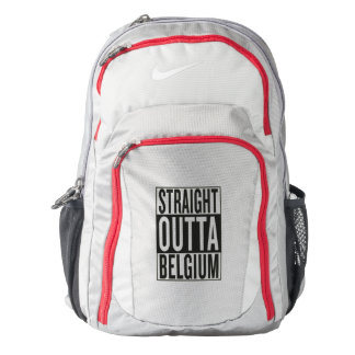 straight outta Belgium Nike Backpack