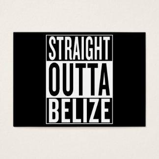straight outta Belize Business Card