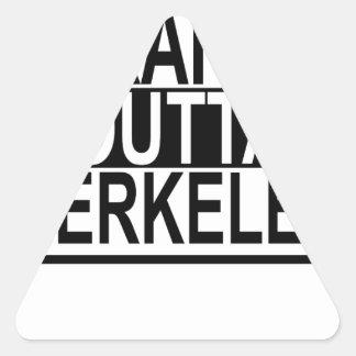 Straight Outta Berkeley T-shirts.png Triangle Sticker
