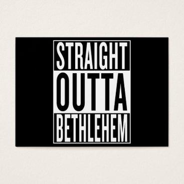 USA Themed straight outta Bethlehem Business Card