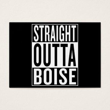 USA Themed straight outta Boise Business Card
