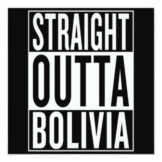 straight outta Bolivia Card