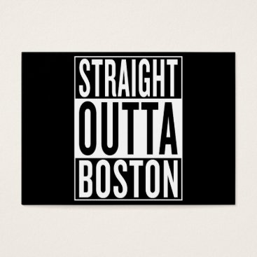 USA Themed straight outta Boston Business Card