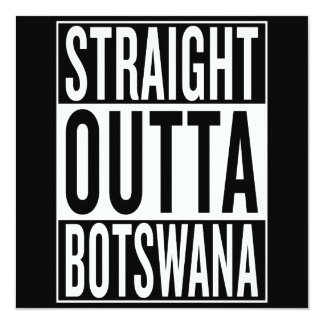 straight outta Botswana Card