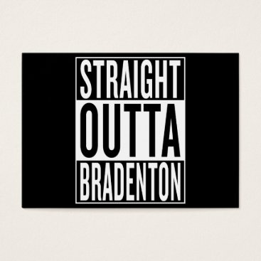 USA Themed straight outta Bradenton Business Card