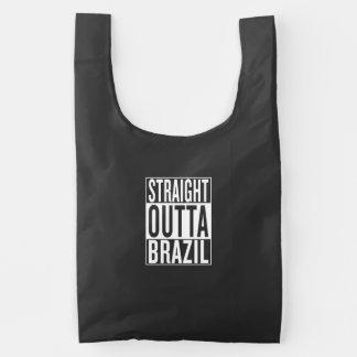 straight outta Brazil Reusable Bag