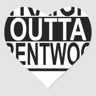 STRAIGHT OUTTA BRENTWOOD.png Heart Sticker