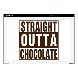"""Straight Outta Brown Chocolate 17"""" Laptop Skin"""