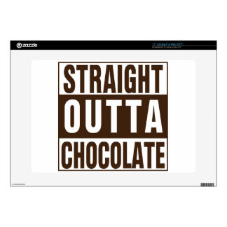 """Straight Outta Brown Chocolate Decal For 15"""" Laptop"""