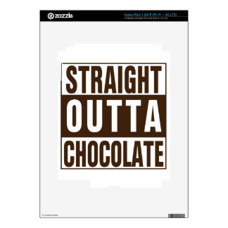 Straight Outta Brown Chocolate iPad 3 Decal