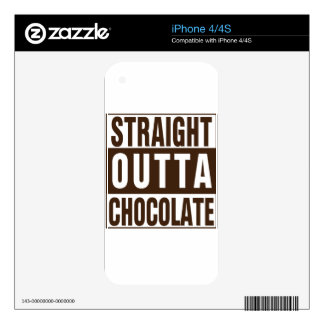 Straight Outta Brown Chocolate iPhone 4S Skin