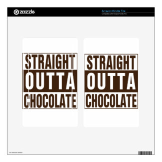Straight Outta Brown Chocolate Skin For Kindle Fire