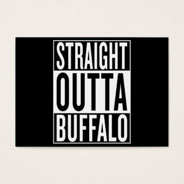 USA Themed straight outta Buffalo Business Card