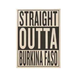 straight outta Burkina Faso Wood Poster