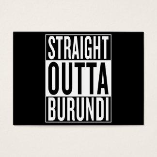 straight outta Burundi Business Card