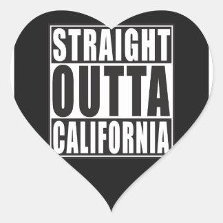 Straight Outta California Heart Sticker