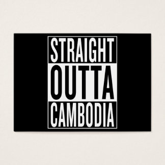 straight outta Cambodia Business Card