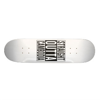 straight outta Cambodia Skateboard Deck