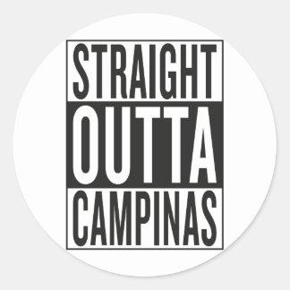 straight outta Campinas Classic Round Sticker