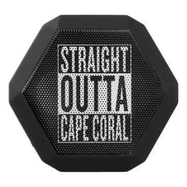 USA Themed straight outta Cape Coral Black Bluetooth Speaker