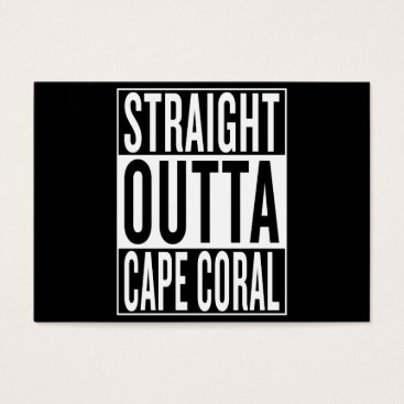 USA Themed straight outta Cape Coral Business Card