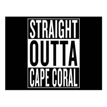 USA Themed straight outta Cape Coral Postcard