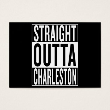 USA Themed straight outta Charleston Business Card