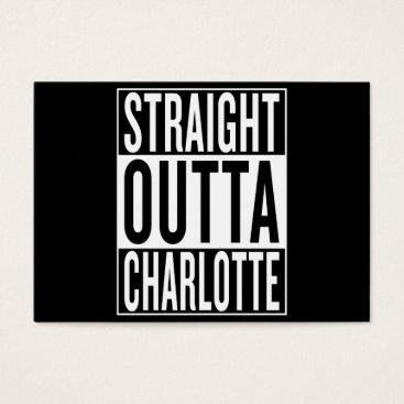 USA Themed straight outta Charlotte Business Card