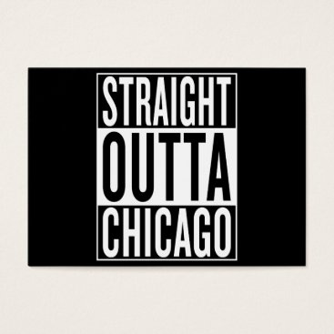 USA Themed straight outta Chicago Business Card
