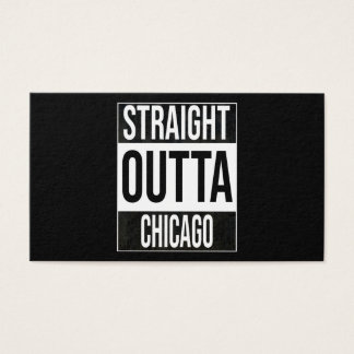 Straight Outta  Chicago, #Chicago Business Card