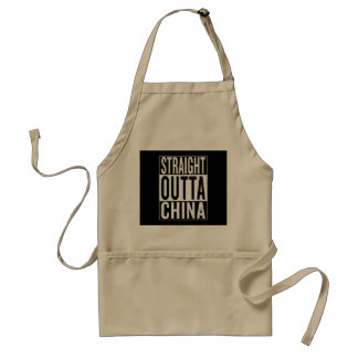 straight outta China Adult Apron