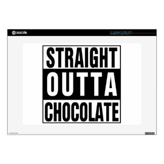Straight Outta Chocolate Laptop Skins