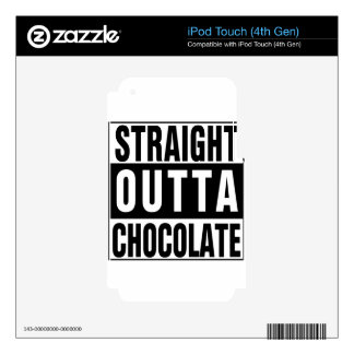 Straight Outta Chocolate Skin For iPod Touch 4G