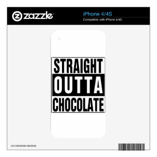 Straight Outta Chocolate Skin For The iPhone 4