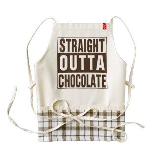 Straight Outta Chocolate Zazzle HEART Apron
