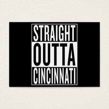 USA Themed straight outta Cincinnati Business Card
