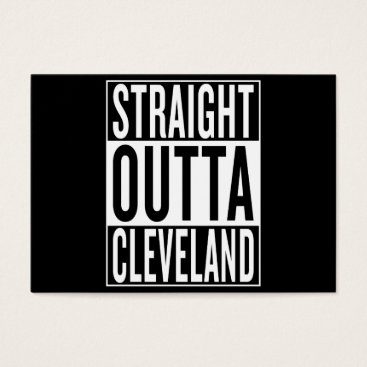 USA Themed straight outta Cleveland Business Card