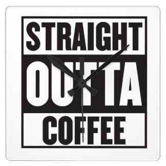 STRAIGHT OUTTA COFFEE CLOCK
