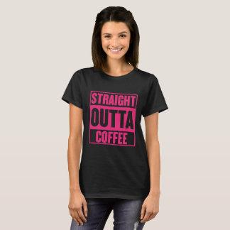 STRAIGHT OUTTA COFFEE WOMENS BLK PNK T-Shirt