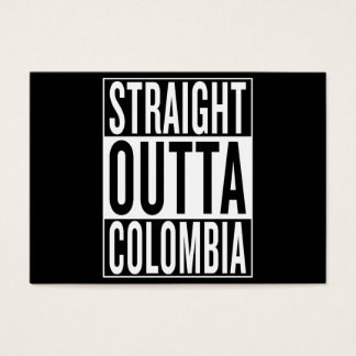straight outta Colombia Business Card