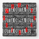 Straight Outta Compliance w/Logo Square Wall Clock
