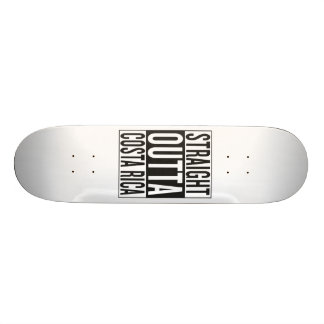 straight outta Costa Rica Skateboard Deck