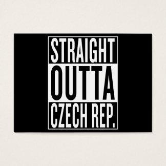 straight outta Czech Republic Business Card