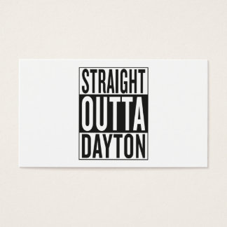 straight outta Dayton Business Card