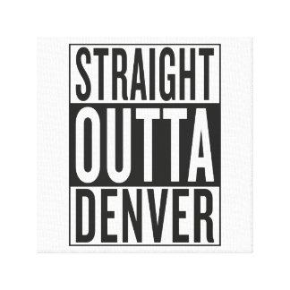 straight outta Denver Canvas Print
