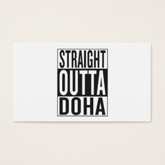 straight outta Doha Business Card